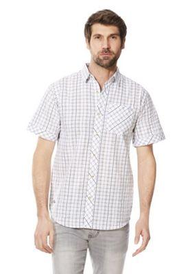 Regatta Deakin II Checked Short Sleeve Shirt White Multi S
