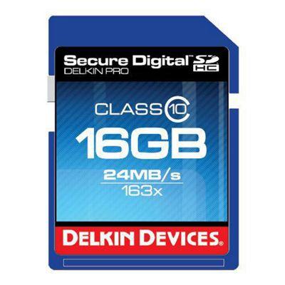 Delkin DDSDPRO3-16GB SD Pro Memory Card SDHC 163x