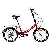 "Tiger Foldaway 20"" Wheel Unisex Folding Bike Red"