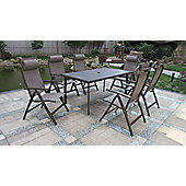 Florence 8pc Rectangular Deluxe Garden Recliner Set