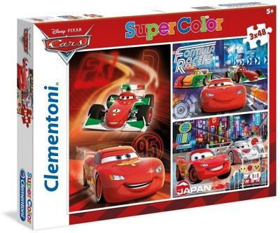 Cars - Supercolour - 3 x 48pc Puzzle