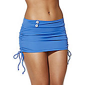 Curvy Kate Luau Love Swim Skirt - Blue