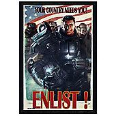 Fallout 4 Black Wooden Framed Enlist Poster 61x91.5cm