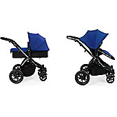 ickle bubba Stomp V2 Pram - Blue (Black Chassis)