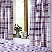 Catherine Lansfield Kelso Heather Curtains 66x72 Inches (168x183cm)
