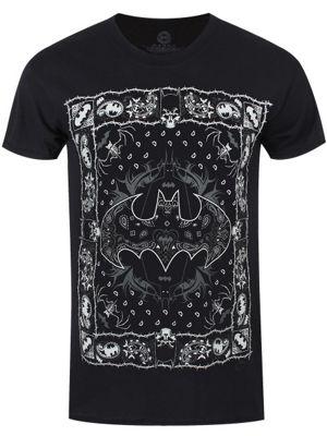 Batman DC Comics Full Bandana Men's T-shirt, Black.