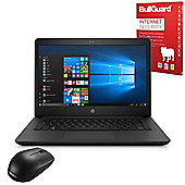 "Certified Refurbished HP 14-bp062sa 14"" Laptop Intel Core i5-7200U 8GB 128GB SSD Windows 10 with Internet Security & Mouse - 2CM94EA#ABU"