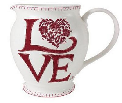 Jan Constantine Romany Heart Design Large 850ml China Jug