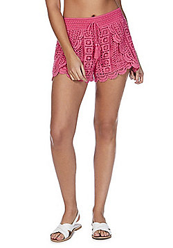 F&F Crochet Beach Shorts - Pink