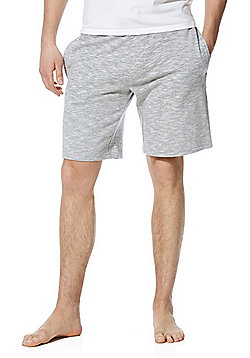 F&F Marl Jersey Lounge Shorts - Grey