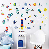 Blast Off, Outer Space Wall Stickers - Pack of 55