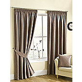 Ribeiro Chenille Pencil Pleat Curtains, Mink 229x274cm