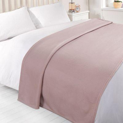 Dreamscene Soft Fleece Throw Blanket 120 x 150 cm - Heather