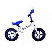 "New 1080 Childs 12"" 3 Spoke Mag Wheels Balance Training Bike Blue / White"