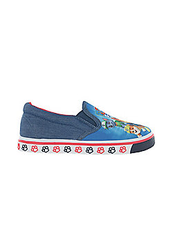 Paw Patrol Lancaster Blue Mesh Casual Canvas Shoes UK Sizes 5-10 - Blue