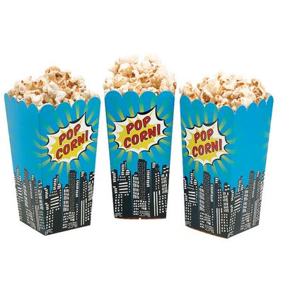 pop art superhero popcorn boxes 16cm