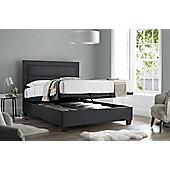 Happy Beds Hollywood Fabric Ottoman Storage Bed - Dark grey