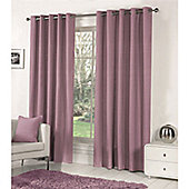 Fusion Sorbonne Eyelet Lined Curtains Heather - 90x90