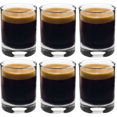 Rink Drink Espresso / Short Coffee Glasses - Gift Box Of 6 Glasses - 65ml