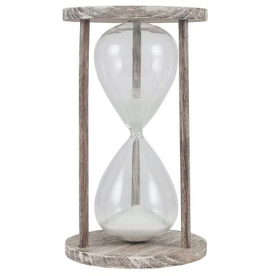 Natural Wood & Glass Hourglass