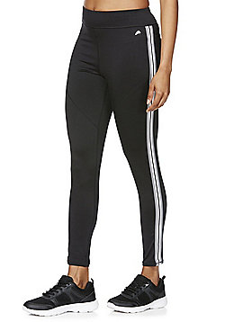 F&F Active Side Stripe Leggings - Black
