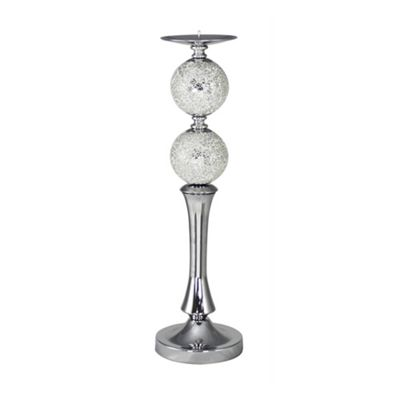 Silver Mosaic Large Olympus Candlestick