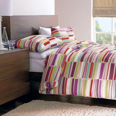 Dreams N Drapes Memphis Double Duvet Set - Multi-coloured with matching pillowcases