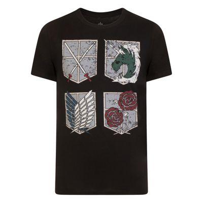 Attack On Titan Mens Shield T-Shirt Large