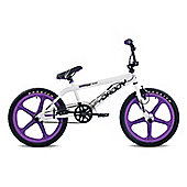 "11"" Rooster Big Daddy, 20"" Purple Skyway Mags, White"