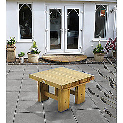 Forest Garden Low Level Sleeper Table 0.7m