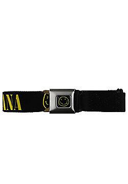 Nirvana Smiley Face Black Seat Belt - Black
