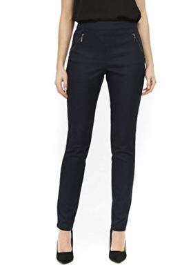 Wallis Side Zip Trousers Navy 16