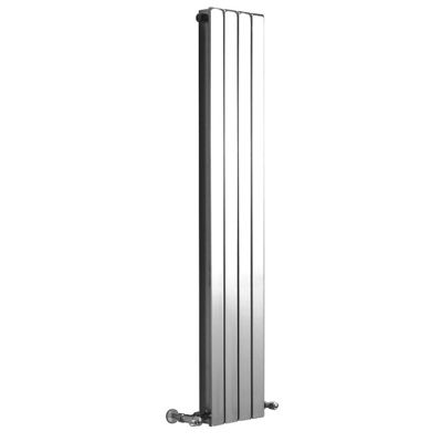 DQ Heating RT Vertical Radiator 600mm High x 490mm Wide (9 Sections) Chrome
