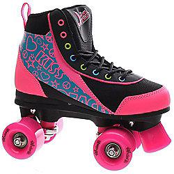 Luscious Retro Quad Roller Skates - Disco Diva - Black