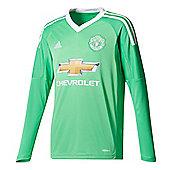 adidas Manchester United 2017/18 Kids Away Goalkeeper Jersey Green - Green