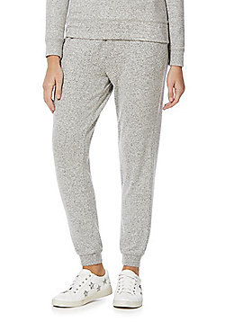 F&F Brushed Marl Cuffed Joggers - Grey