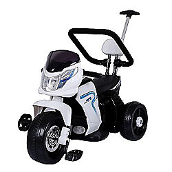 BMW Style Kids Motorcycle 6V 2 in 1 Ride On White