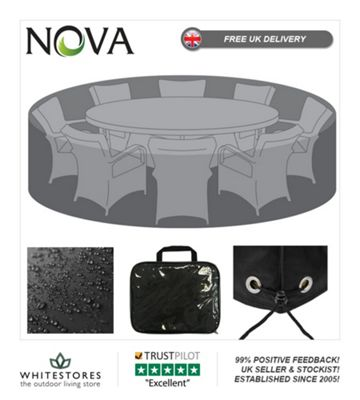 Nova Large 8 Seat Round Dining Set Outdoor Garden Furniture Cover