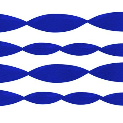Royal Blue Crepe Streamer - 152m