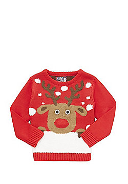 F&F Rudolph Light-Up Christmas Jumper - Red