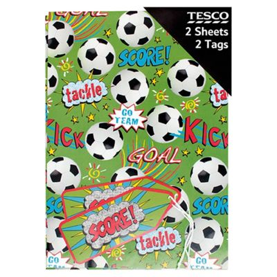 Football Gift Wrap Pack