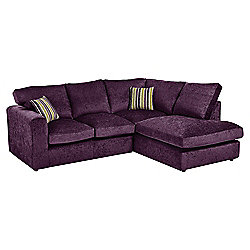 Taunton Right Hand Corner Sofa, Plum