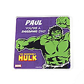 Marvel Personalised Father's Day Hulk Coaster