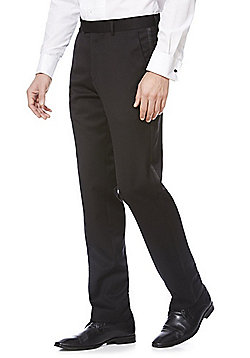 F&F Tailored Fit Tuxedo Trousers - Black