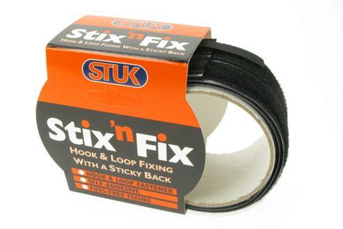 StixnFix Hook & Loop Tape Black 20mm x 1m