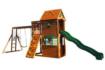 Selwood Arlington Deluxe Climbing Frame - Swings & Slide