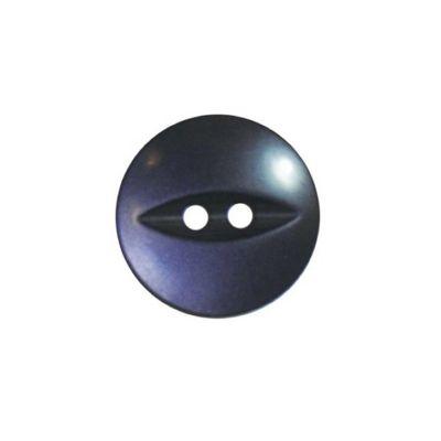 Hemline Slate Blue Fish Eye Buttons 18.75mm 4pk