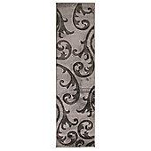 Hand Carved Elude Grey/Grey Runner 60X230cm