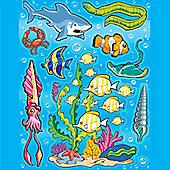 Scene Setters Marine Life Clings - 14 pack