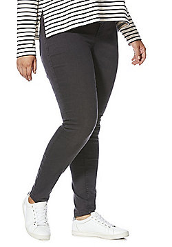 Junarose Stretch Slim Leg Plus Size Jeans - Grey